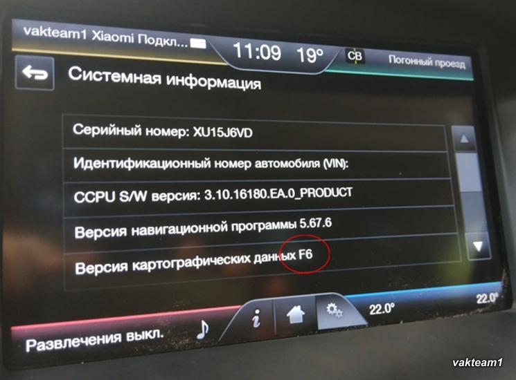 Навигация Форд F6